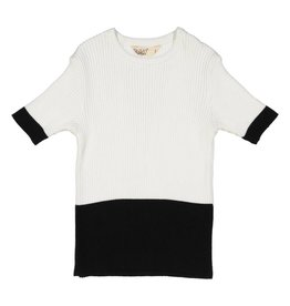 Nove RIBBED 2 LAYERS CREW NECK White