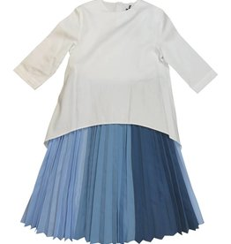 EURO CLUB COLLECTIONS DRESS WITH HIGH LOW TOP BLUE