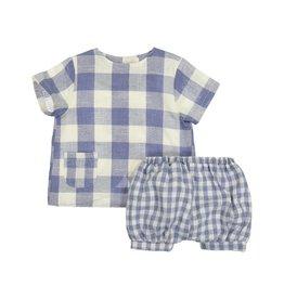 Teela ABA Square Print Baby Set Blue