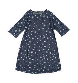 Teela DENIM STRAIGHT Star Print Dress Dark Denim