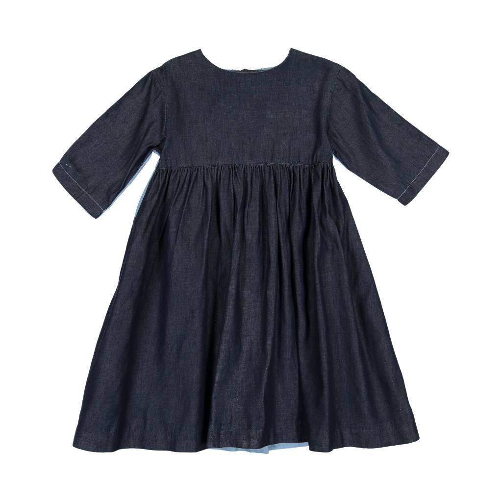 Teela DENIM 2 TONE Dress light/dark denim