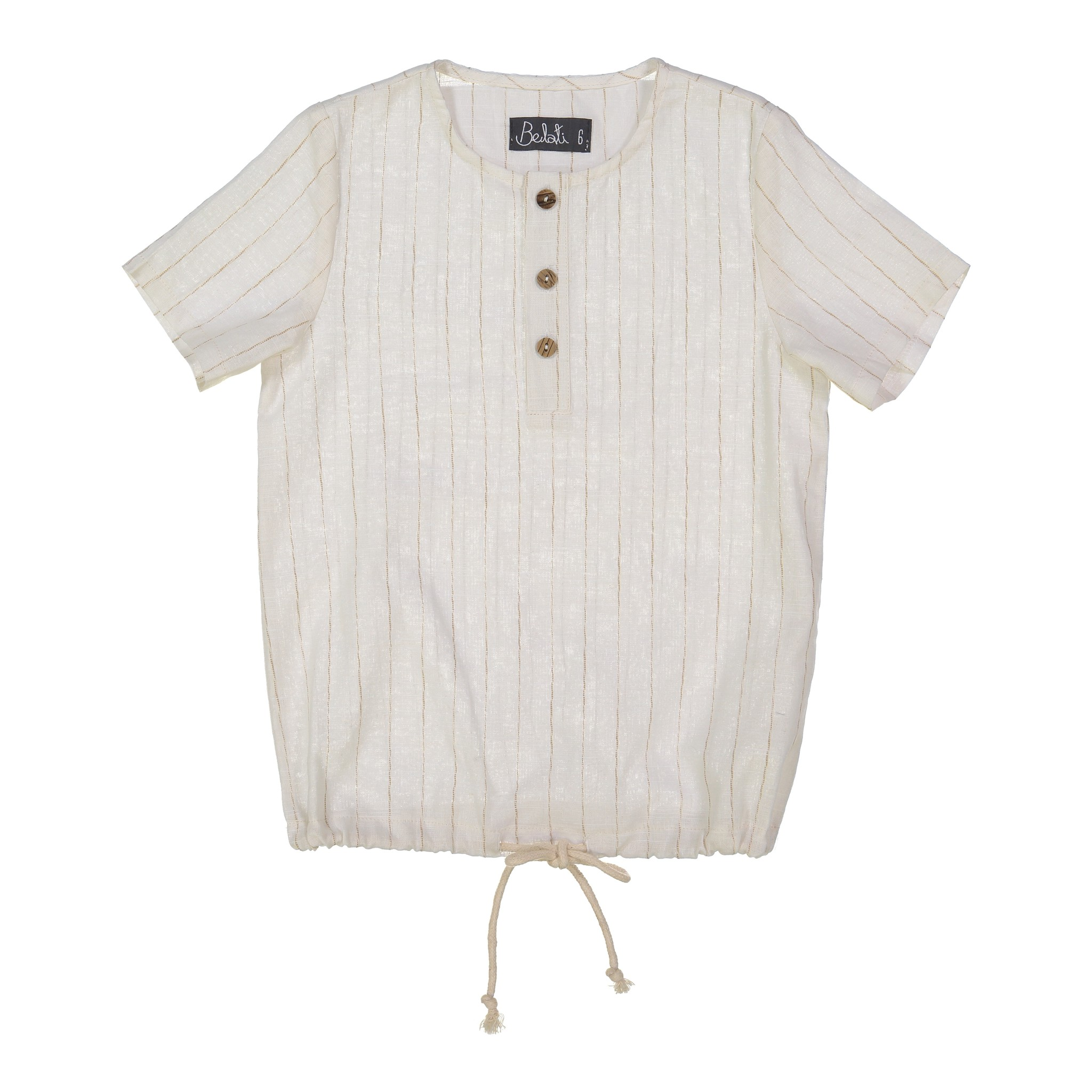 Belati STRIPY HOODED SHIRT CREAM