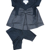 Whitlow & Hawkins BOW BABY SET Black