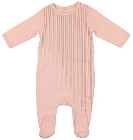 Mon Tresor Bebe Tickled Pink Footie
