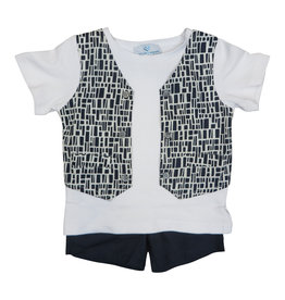 Whitlow & Hawkins GEO BABY BOY SET   -  TEE Square