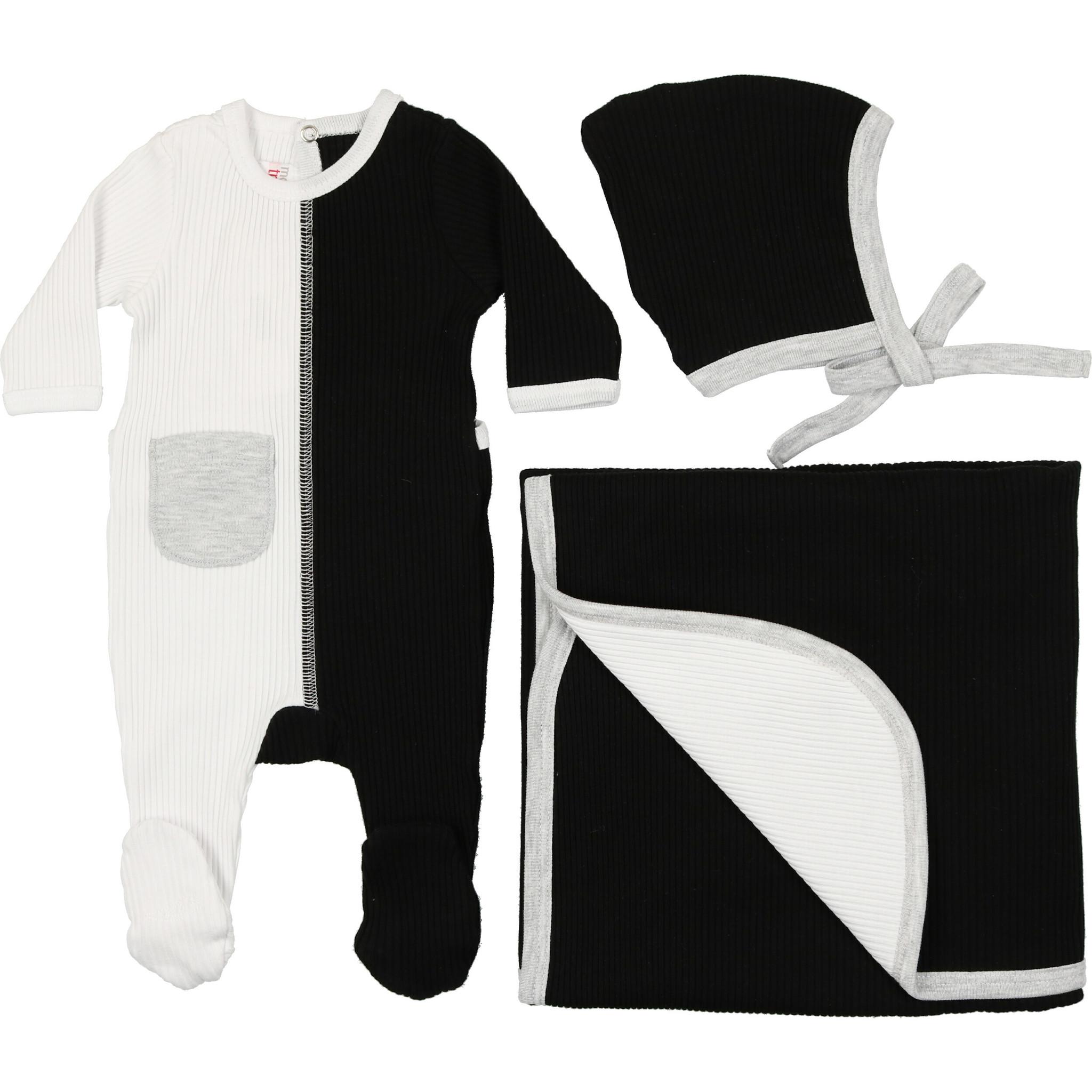 Mon Tresor Bebe J'adore Colors Hat Black and White