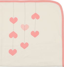 Mon Tresor Bebe Hearts of Gold Blanket