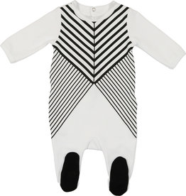 Mon Tresor Bebe Show your Stripes Footie
