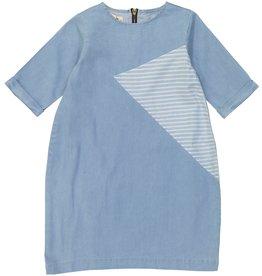 Teela DENIM BUBBLE Shape Patch Dress Light Denim