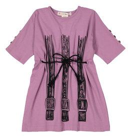 Teela SQUARE Belt Print Dress Orchid