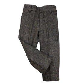 pompomme BOY SIDE SEEM POCKET PANTS Brown Tweed