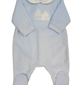 Tutto Piccolo BABYGROW WITH MOON FACE SKY BLU