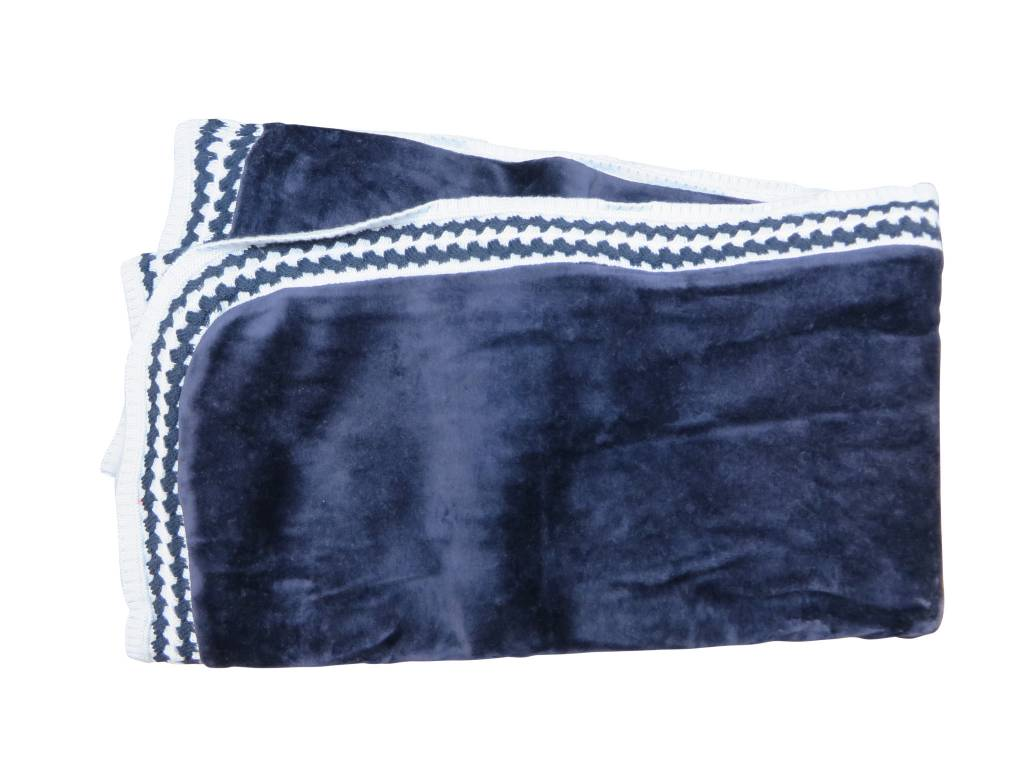 Chant de Joie Navy Blanket Knit Trim