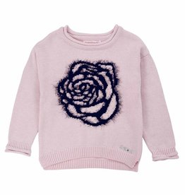 Deux Par Deux Rose Ballad Sweater w/flower