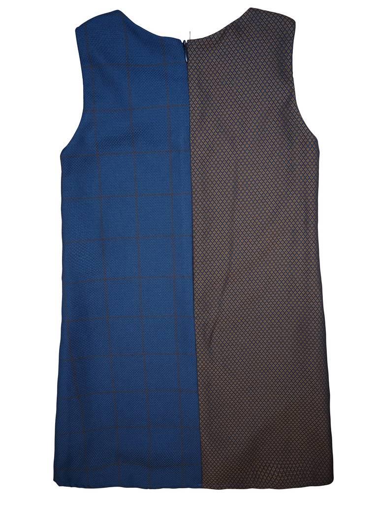 Alitsa Navy Plaid Dress