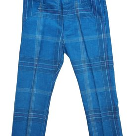 P & P Blue Plaid Boys Pants