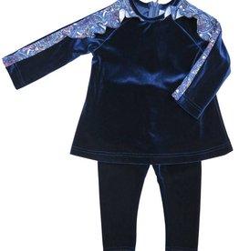 Monalili Paisley Ruffle Sleeve 2 Pce