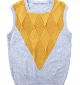 EURO CLUB COLLECTIONS VEST WITH SQUARED NECK LINE