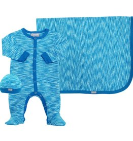Coccoli Cotton Blanket Blue Print