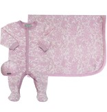 Coccoli Cotton Blanket Pink Lace
