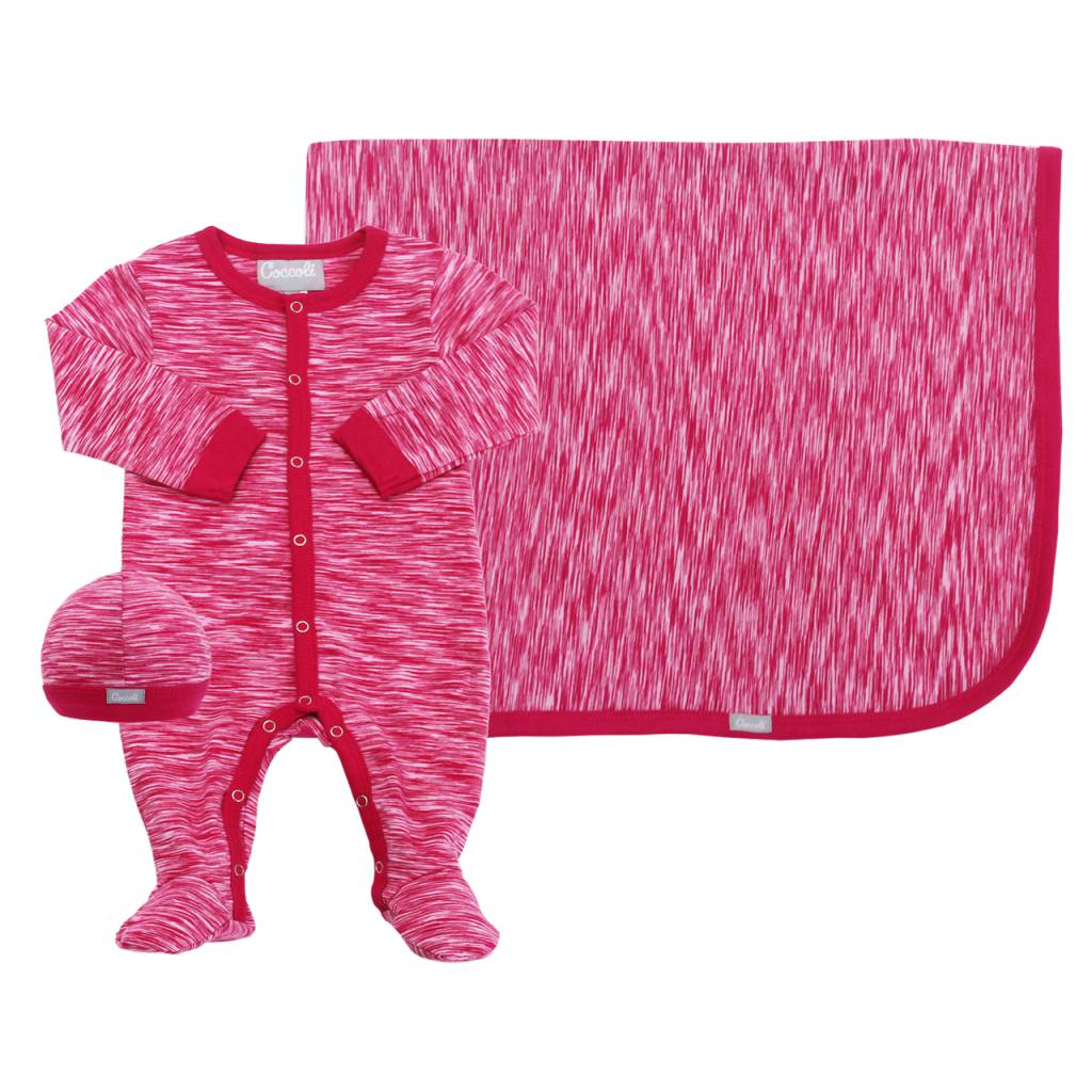 Coccoli Cotton Blanket Pink Print