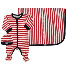 Coccoli Cotton Blanket Red Striped