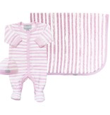 Coccoli Cotton Cap Pink Striped