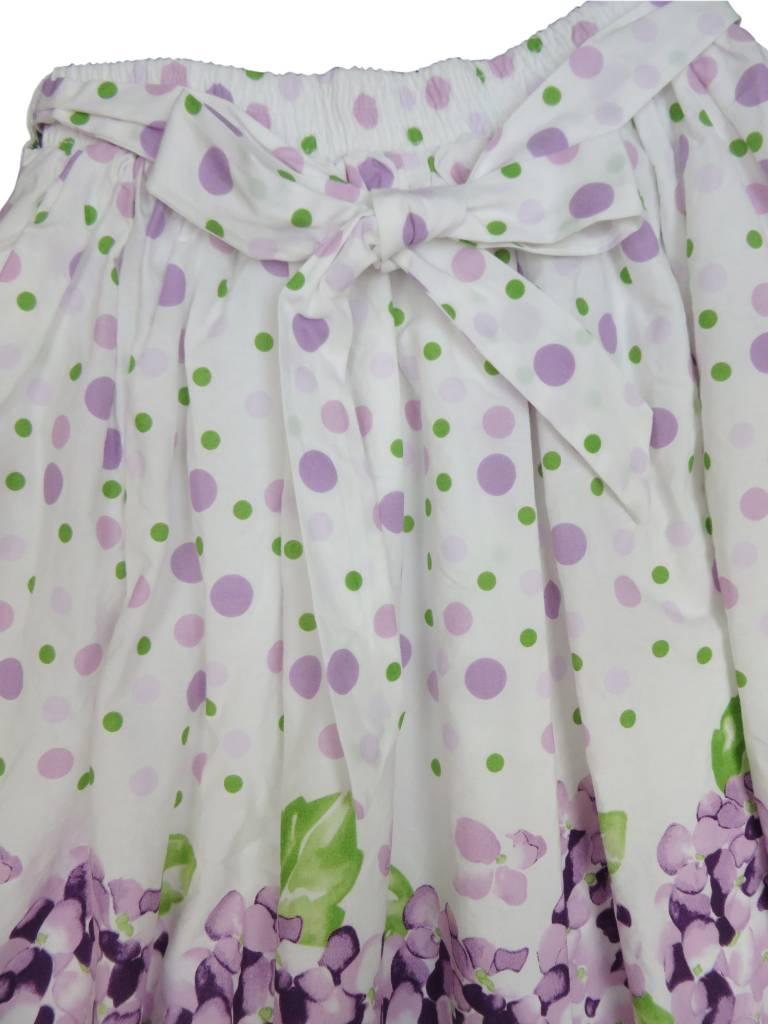 Charm Lilac Print Skirt