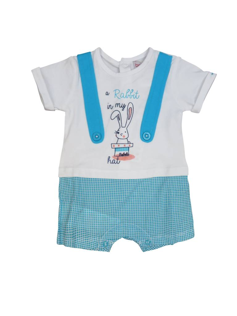 Boboli Boy Romper W/Rabbit in Hat
