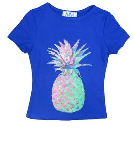 Mis MeMe Blue Pineapple T-Shirt