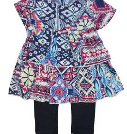 Monalili Aztec Print Girls Set