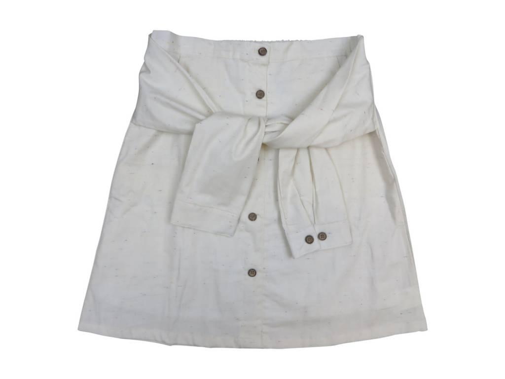 Crew Kids Sleeve Skirt White