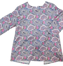 Little Cocoon Paisley Ruffled Top