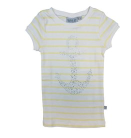 Wheat T-SHIRT RHINESTONE ANCHOR