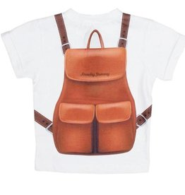 FRENCHY YUMMY Baby Top With Backpack Print