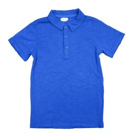 Frenchie Mini Couture Blue Polo Shirt