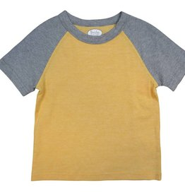 Frenchie Mini Couture Grey and yellow t-shirt