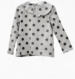 MOTORETA ELMA BLOUSE Grey with  black dots