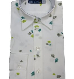 EURO CLUB COLLECTIONS COLLARED  SHIRT WITH  LONG SLEEVES, WHITE