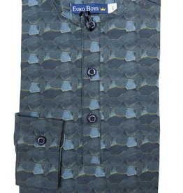 EURO CLUB COLLECTIONS COLLARLESS  SHIRT WITH  LONG BLUE