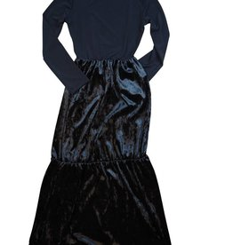 Indigo Maxi Dress Crushed Velvet Black