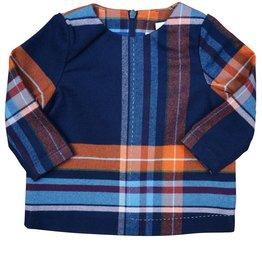 Teela ABA Plaid Collar Shirt Navy