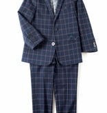 Appaman 2-PC MOD SUIT Navy Windowpane