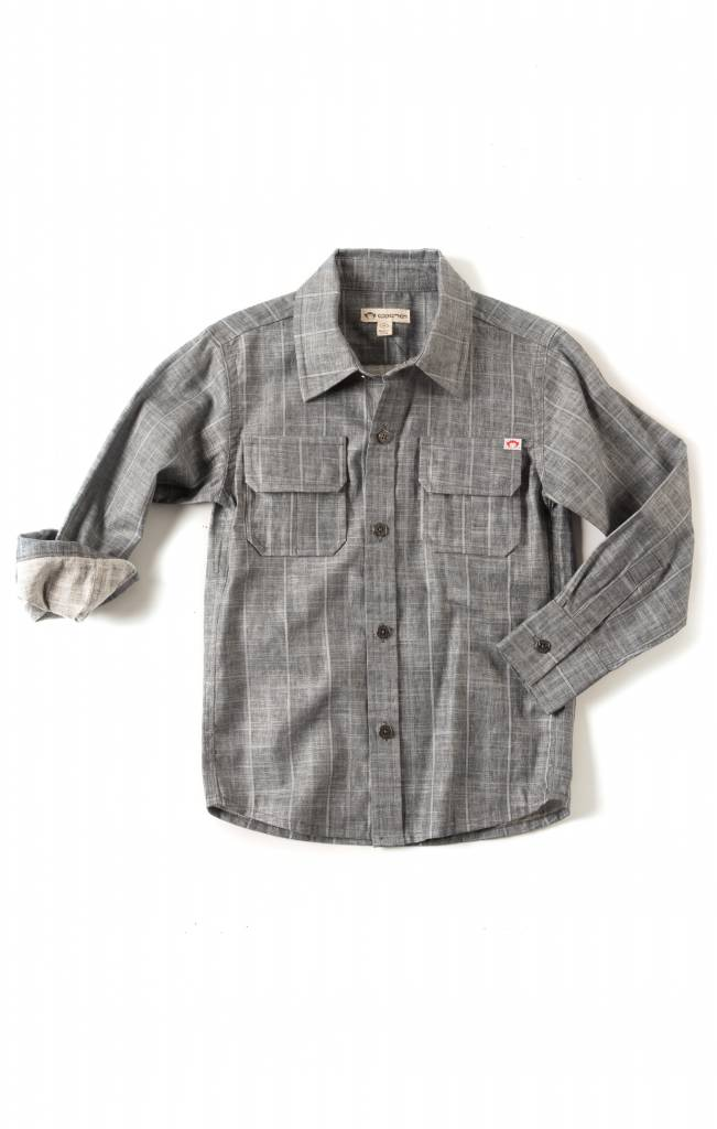 Appaman Mason Shirt Slate Stripe