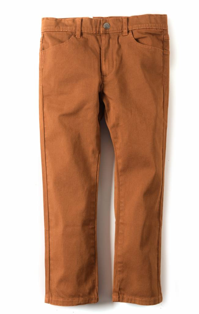 Appaman Skinny Twill Pant Leather Brown