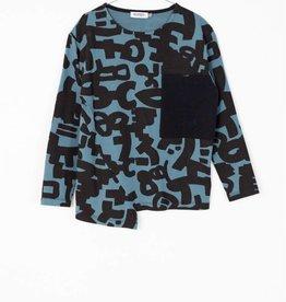 MOTORETA LOLO T-SHIRT Blue & black  print