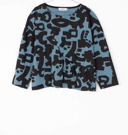 MOTORETA LENI T-SHIRT Blue & black  print