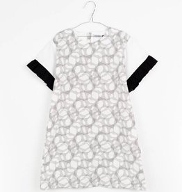MOTORETA MAR DRESS Black & white halftone print