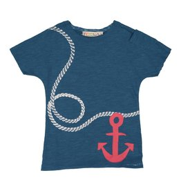 Teela Boys T-shirt Anchor Print Blue