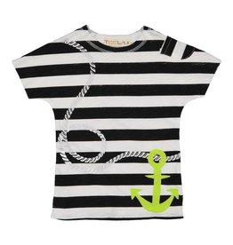 Teela Boys T-shirt Anchor Print Black/White